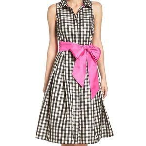 NWT Eliza J Classy With A Kick Gingham Dress 6